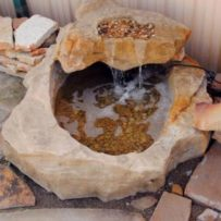Fiber Rock Water Feature